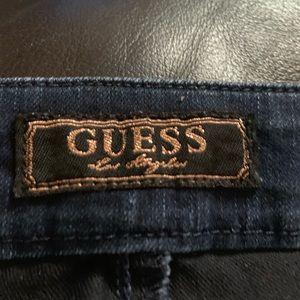 Guess Jeans - Guess Dark Blue Power-Ultra Skinny Zip Detail jean